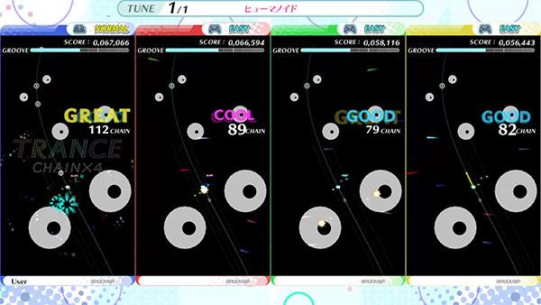 4-person battle screen